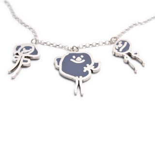 Necklace with three pendants silverdoodle home necklaces necklace with three pendants aloadofball Image collections